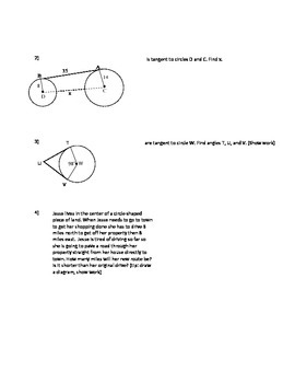 Circles, Tangents and Right Angles