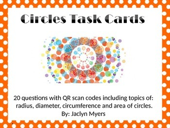Circles Task Cards with QR Codes