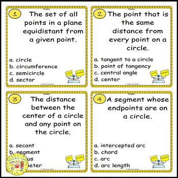 Circles Task Cards
