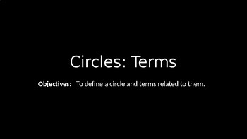 Circles:Terms - PowerPoint Lesson (8.1)