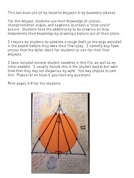 Circles Unit Assessment- Crop Circle Project