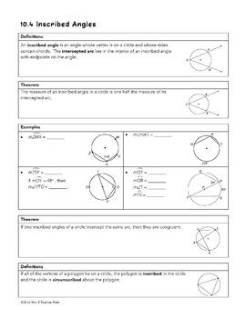 Circles Unit Bundle by Mrs E Teaches Math | Teachers Pay ...