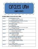 Circles Unit - Guided Notes