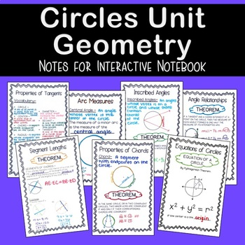 Circles Geometry - Unit Notes
