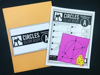 Circles Unit Review - Escape Room Activity