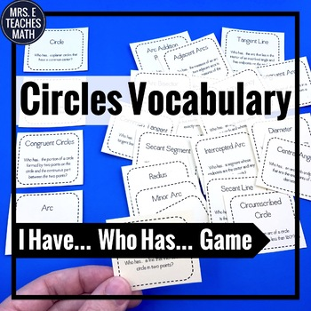 "Circles Vocabulary ""I Have, Who Has"" Game"