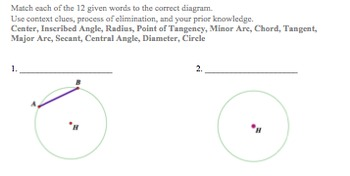 Circles Vocabulary- Introduction and Practice