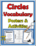 Geometry - Circles Vocabulary - Posters & Activities