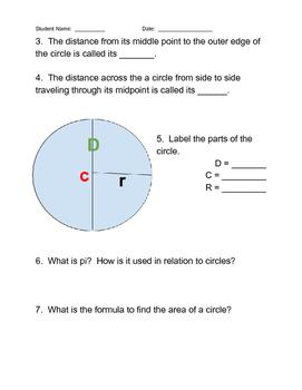 Circles Webquest