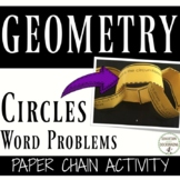 Area and Circumference Circles Activity Word Problems Paper Chain