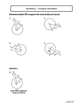 Circles Worksheet Bundle