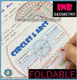 Circles and Arcs Foldable
