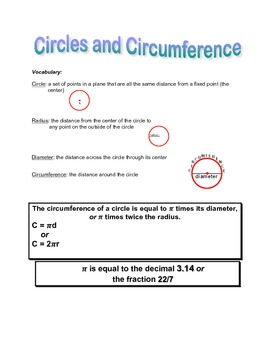 Circles and Circumference