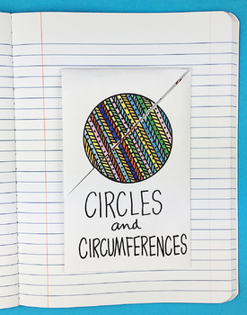 Math Doodle - Circles and Circumferences Foldable by Math Doodles