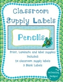 Circles and Flowers Classroom Supply Labels