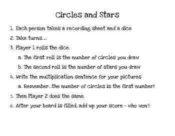 Circles and Stars - Multiplication Game