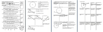 Circles and Tangents Spring 2013 with Answer Key (Editable)