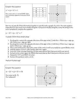 Circles everywhere: Graphing them, understanding shifts, plus puzzles!