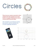 Circles everywhere: Graphing them, understanding shifts, p