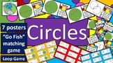 Properties of Circles - parts of, vocabulary, definitions, posters and games