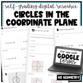 Circles in the Coordinate Plane- for Google Forms | Distance Learning