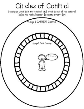 picture about Thing 1 and Thing 2 Printable Circles identify Circle Of Regulate Worksheets Training Materials TpT