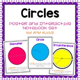 Circles Posters and Interactive Notebook INB Set
