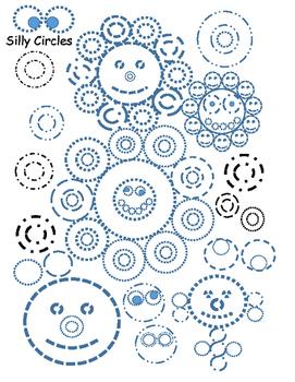 Circles, shapes, tracing, fine motor skills, worksheet, fun, curves