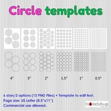Circles templates. Clip art for commercial use. Round labe