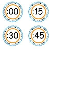 Circles to go around clock