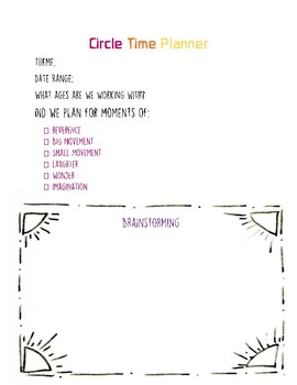 Circletime Planning Pages