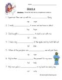 Circling CVC E Words Worksheet
