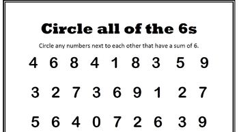 Circling the Sums Fluency Game Boards Bundle