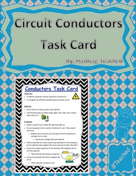 Circuit Conductors Science Task Card Activity