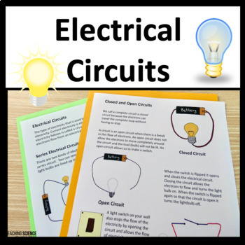 Circuit Electricity Complete STEM Science Unit with Interactive Notebook Inserts