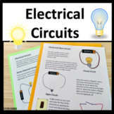 Circuit Electricity STEM Unit with Interactive Notebook Inserts NGSS 4-PS3-2