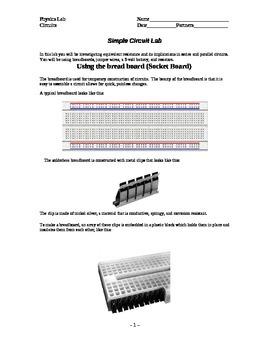 Circuit Lab using Breadboard (series parallel)