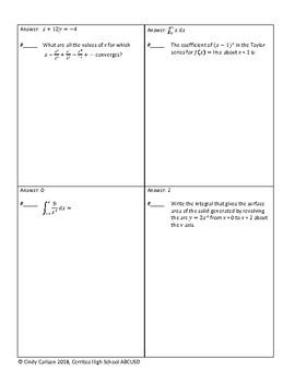Circuit Training - AP Calculus BC Review #2
