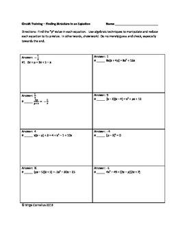 Circuit Training - Algebra I Bundle of CCSS / PARCC Inspired problems!