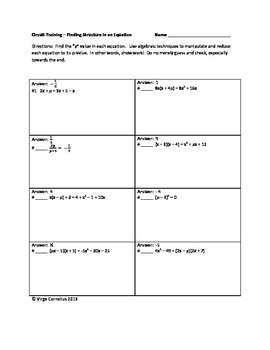 Circuit Training - Algebra I Bundle of CCSS / PARCC Inspir