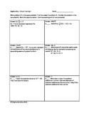 Circuit Training (Algebra Mixed Review II)