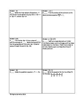 Circuit Training (Algebra Mixed Review II)