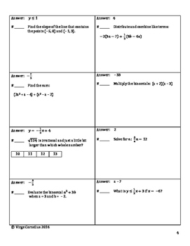 Circuit Training - Algebra Mixed Reviews Bundle!