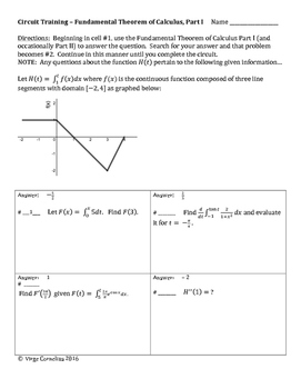 Circuit Training - Applications of the Integral Bundle! (calculus)