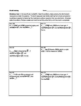 Circuit Training - Beginning Geometry Version 2