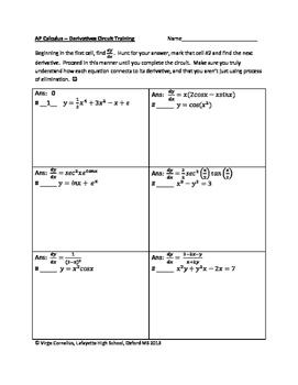 Circuit Training - Calculus Starter Set
