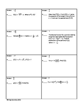 Circuit Training - Derivatives at a Point (Calculus)