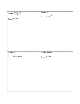 Circuit Training - Difference Quotients (precalculus)
