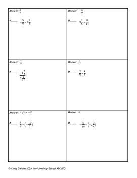 Circuit Training - Dividing Fractions