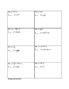 Circuit Training - Find the Original Function (Calculus)